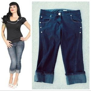 29-59 LIP SERVICE Designed for a Special Client ~ Gal/'s White Pants NWT